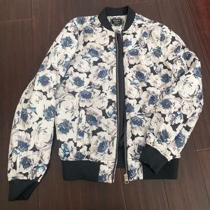 Floral bomber jacket from Forever 21